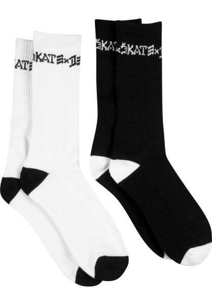 Thrasher Socken Skate X Destroy 2er Pack white-black Vorderansicht