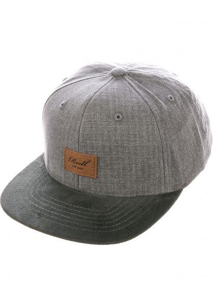 Reell Caps Suede 6-Panel washedgrey vorderansicht 0564484