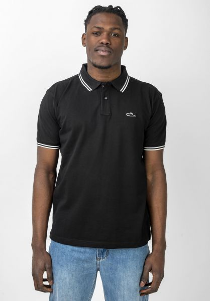 Atticus Polo-Shirts Classic Tipped black-white vorderansicht 0138418