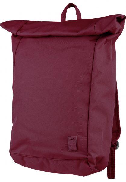 Lefrik Rucksäcke Roll Backpack granate vorderansicht 0880955