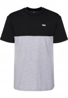 Vans-T-Shirts-Colorblock-black-athleticheather-Vorderansicht