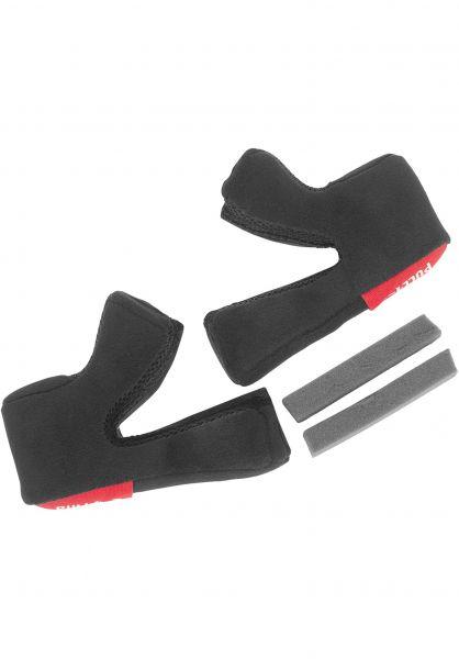 TSG Diverse Schoner Advance Magnetic Cheek Pad Set black Vorderansicht