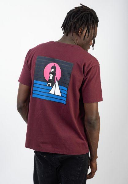 Cleptomanicx T-Shirts Signal windsorwine vorderansicht 0320566