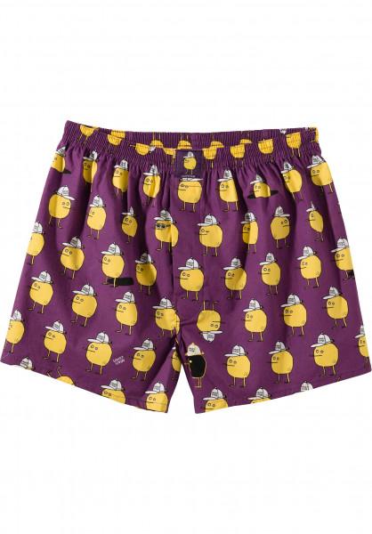 Lousy Livin Unterwäsche Zitrone purple Vorderansicht