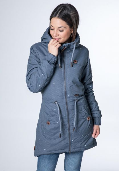 alife and kickin Winterjacken Charlotte A nightblue-aop vorderansicht 0250147