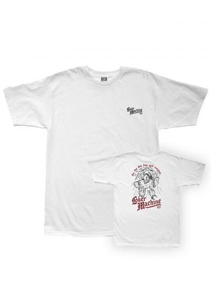 Loser-Machine T-Shirts 8th Day white vorderansicht 0399545