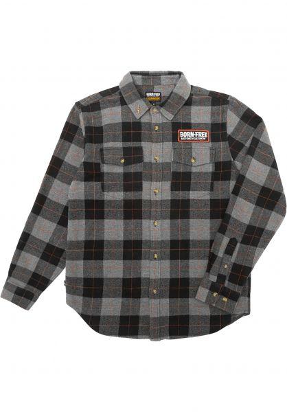 Loser-Machine Hemden langarm Adamson black-grey vorderansicht 0412107
