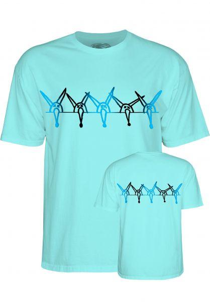 Powell-Peralta T-Shirts Vato Rat Band celadon Vorderansicht