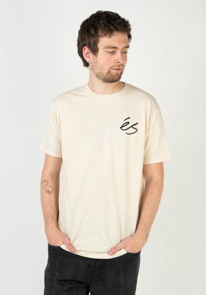ES T-Shirts Script Overdye bone vorderansicht 0323625