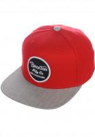 Brixton Caps Wheeler red-lightheathergrey Vorderansicht