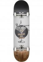 Globe-Skateboard-komplett-Excess-white-brown-Vorderansicht