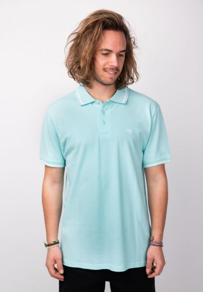 TITUS Polo-Shirts Johann mintgreen-white vorderansicht 0138341
