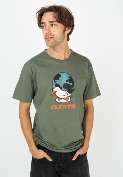 Cleptomanicx T-Shirts Going Round thyme vorderansicht 0322195