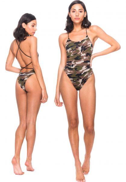 Red-Dragon Beachwear Logotype woodlandcamo vorderansicht 0320358