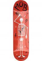MOB-Skateboards Skateboard Decks Skeletown red Vorderansicht
