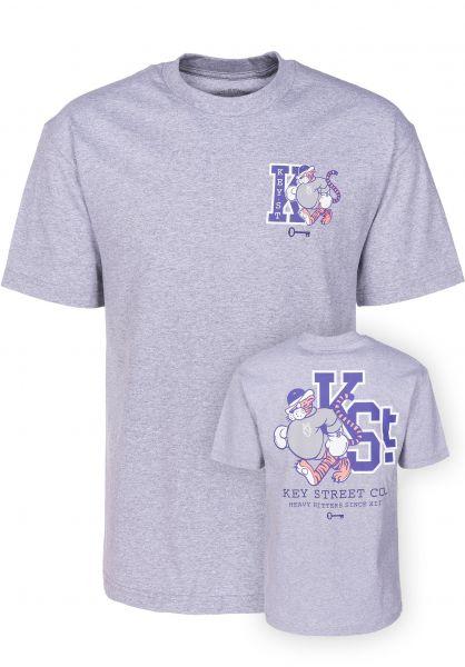 Key Street T-Shirts Mascot heathergrey vorderansicht 0399521