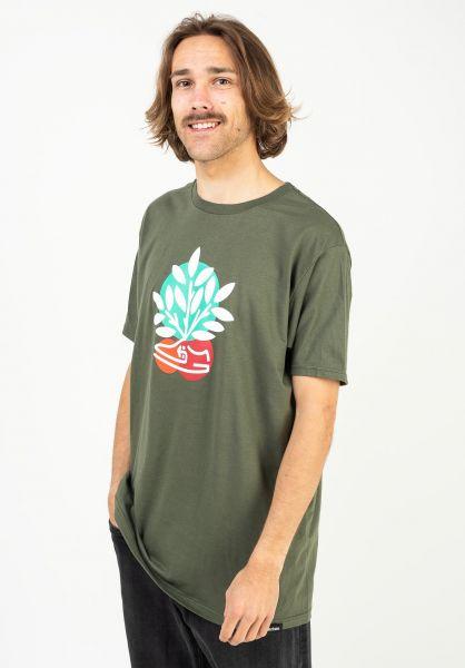 etnies T-Shirts Plant a Tree military vorderansicht 0323541