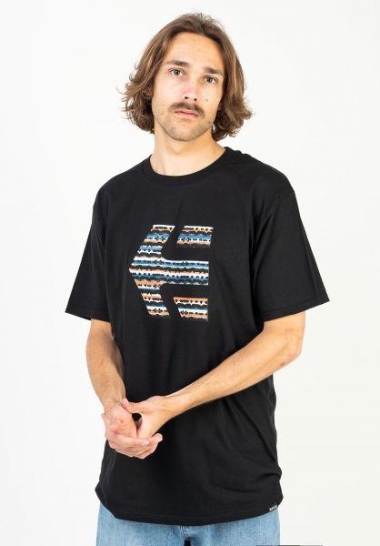 etnies T-Shirts Icon Print black-blue vorderansicht 0323517