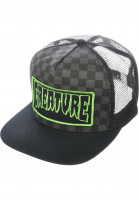 Creature Caps Patch Trucker checkered-black Vorderansicht