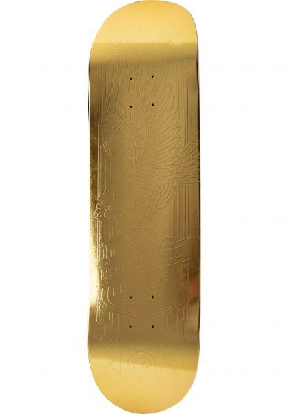 Primitive Skateboards Skateboard Decks Rodriguez Eagle Foil gold vorderansicht 0118848