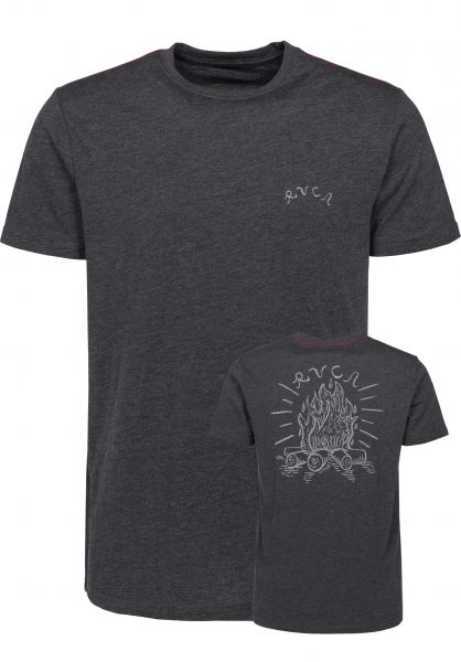 RVCA T-Shirts Camp Harmony charcoal Vorderansicht