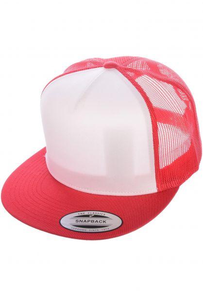 Flexfit Caps Flat Trucker Cap red-white-red vorderansicht 0566388
