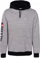 brixton-hoodies-stowell-heathergrey-black-vorderansicht-0444703