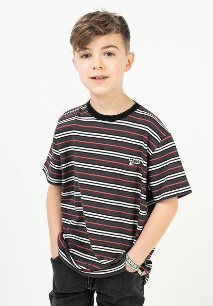 TITUS T-Shirts Koa Kids brown-striped vorderansicht 0322073