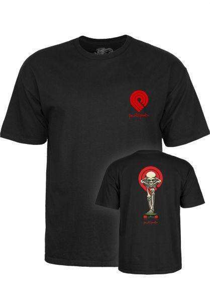 Powell-Peralta T-Shirts Tucking Skeleton black Vorderansicht 0398314