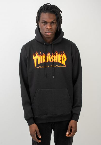 Thrasher Hoodies Flame black vorderansicht 0044255