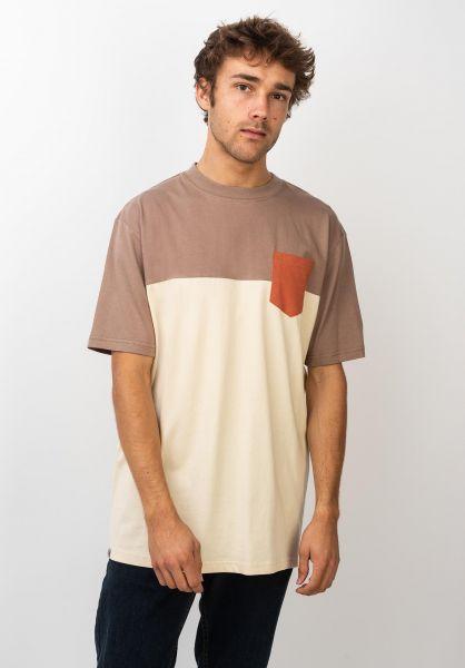 TITUS T-Shirts Colourblock Pocket ginger-pebble-autumnleaf vorderansicht 0398349