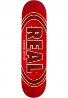 Real Skateboard Decks Oval Duo Fades red Vorderansicht