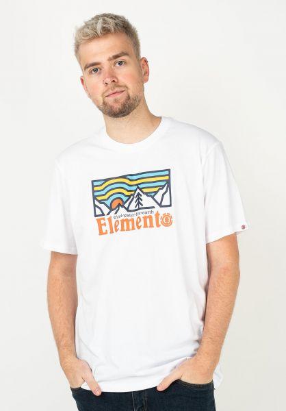 Element T-Shirts Wander opticwhite vorderansicht 0322635