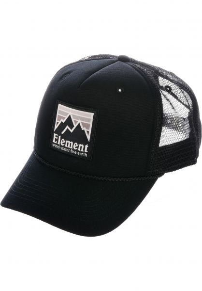 Element Caps Peak Trucker offblack vorderansicht 0566170