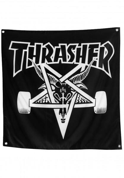 Thrasher Verschiedenes Skate Goat Banner black Vorderansicht