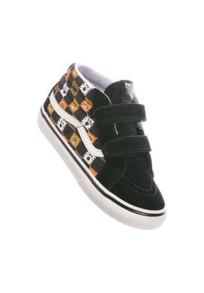 Vans Alle Schuhe Sk8-Mid Reissue V black-white-animal vorderansicht 0216074
