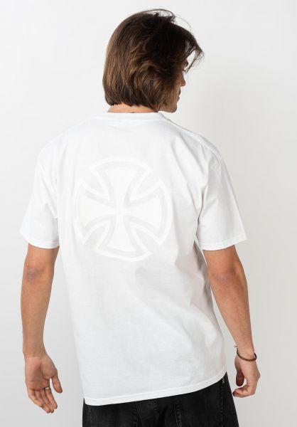 Independent T-Shirts Bar/Cross Fade Out white vorderansicht 0322157