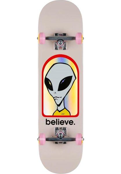 Alien-Workshop Skateboard komplett Believe Hologram pink vorderansicht 0162382