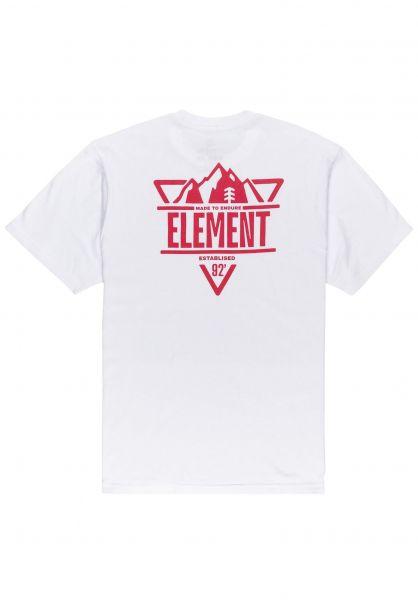 Element T-Shirts Grizzard opticwhite vorderansicht 0323364