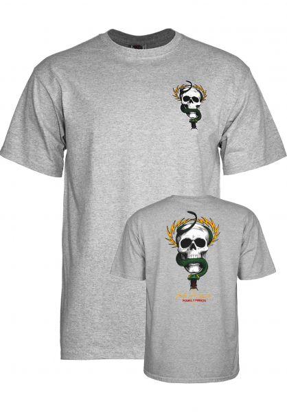 Powell-Peralta T-Shirts Mc Gill Skull & Snake greymottled Vorderansicht