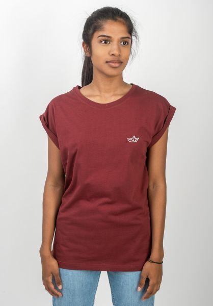 Ezekiel T-Shirts Paperboat burgundy vorderansicht 0398624