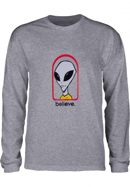 Alien-Workshop Longsleeves Believe heathergrey vorderansicht 0383561