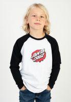 santa-cruz-longsleeves-youth-melting-dot-baseball-black-white-vorderansicht-0384329