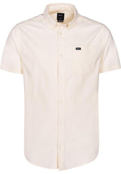 RVCA Hemden kurzarm That'll Do Stretch lightyellow vorderansicht 0400879