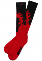 Rockasox-Socken-Crimson-Beast-black-red-Vorderansicht