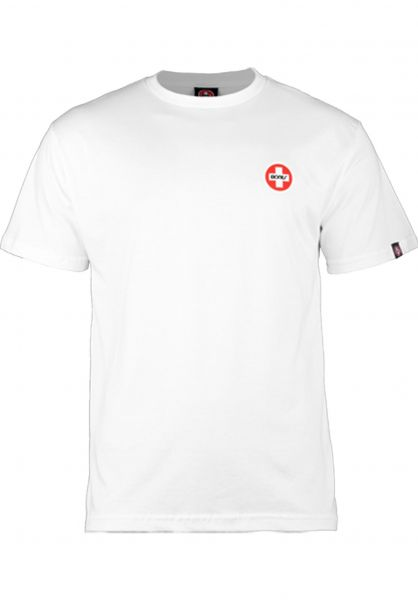 Bones Bearings T-Shirts Small-Logo white Vorderansicht
