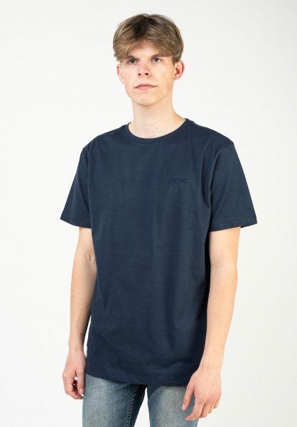Mazine T-Shirts Keith Striped navy vorderansicht 0322280