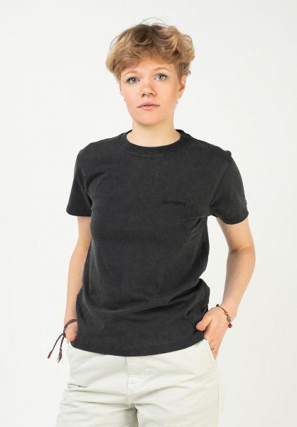 Carhartt WIP T-Shirts W´ Mosby Script black vorderansicht 0322830