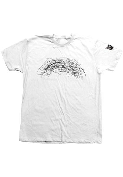 Pig T-Shirts Dirty Rainbow white vorderansicht 0320814
