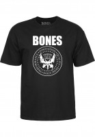 Bones Wheels T-Shirts Joey black Vorderansicht